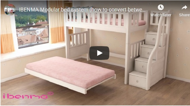 ibenma modular bed system video