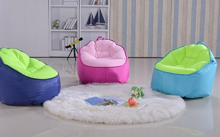 children bean bag and stool