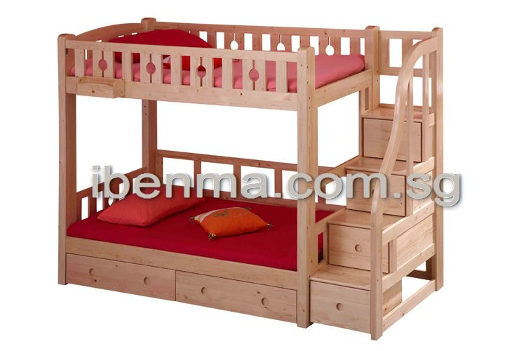 children double deck bed and bunk bed
